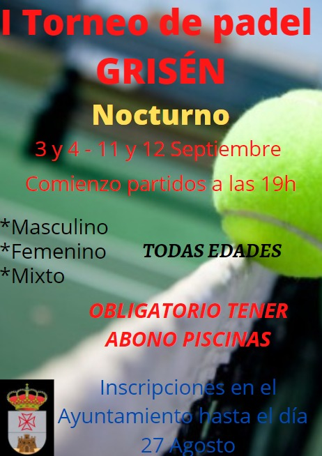 I Torneo de padel nocturno de Grisén